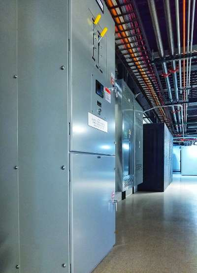 Electrical equipment at Cybercon Data Center